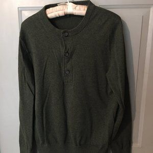 Banana Republic Grey Scoop neck sweater. L